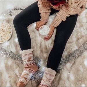 Black - High Waist Fleece Lined Leggings